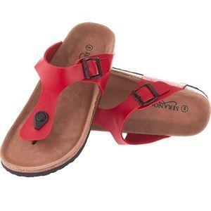 Seranoma Thong Sandal Red 9